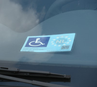 写真:EUが発行している駐車許可書