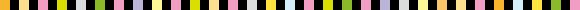 イラスト:色々な配色のタイルをモチーフにしたライン