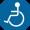 イラスト:肢体不自由者を表すピクトグラム