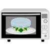 イラスト:冷凍ブロッコリーを耐熱皿にのせ、ラップをかけレンジにかけている様子