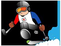 写真:日本代表車いすスキーの選手