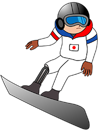 写真:自足でスノーボード競技の日本代表選手
