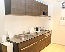 写真:展示されているシステムキッチンの一例